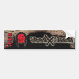 Voodoo Heads ~ Cave Bumper Sticker
