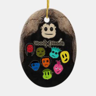 Voodoo Heads ~ Cave Ceramic Ornament