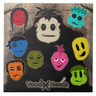 Voodoo Heads ~ Cave Ceramic Tile