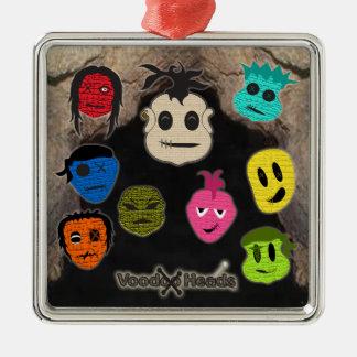 Voodoo Heads ~ Cave Metal Ornament