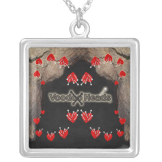 Voodoo Heads ~ Cave Square Pendant Necklace
