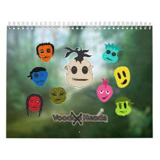 Voodoo Heads ~ Swamp Wall Calendar