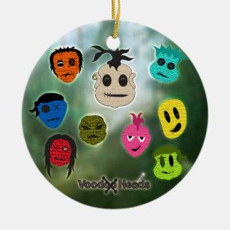 Voodoo Heads ~ Swamp Ceramic Ornament