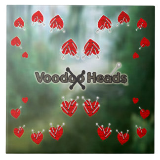 Voodoo Heads ~ Swamp Ceramic Tile