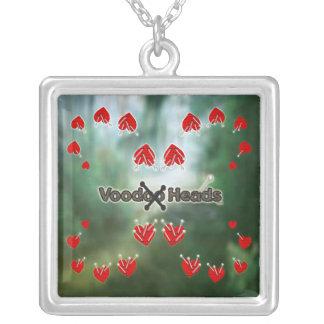 Voodoo Heads ~ Swamp Square Pendant Necklace