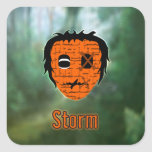 Voodoo Heads ~ Swamp Square Stickers