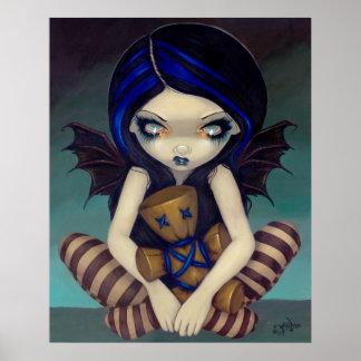 Voodoo in Blue gothic fairy Art Print