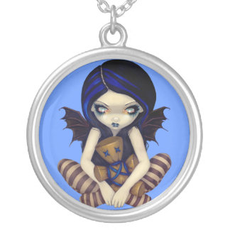 Voodoo in Blue NECKLACE voodoo doll fairy