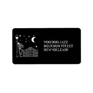 Voodoo Jazz Saxophone Player Label