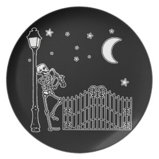 Voodoo Jazz Saxophone Player Party Plate