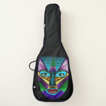 Beach Themed Voodoo Lady Abstract Face Guitar Case