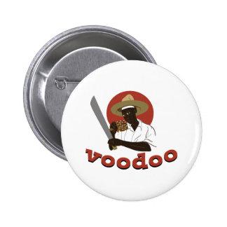 Voodoo Machete Priest 2 Inch Round Button