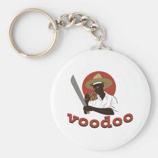 Voodoo Machete Priest Basic Round Button Keychain