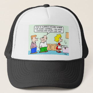 voodoo magic kitchen trucker hat