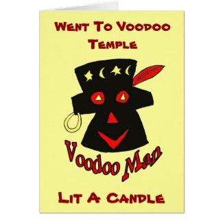 Voodoo Man, Went To Voodoo Temple, card