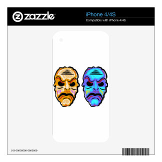 Voodoo Mask Sketch iPhone 4S Skin