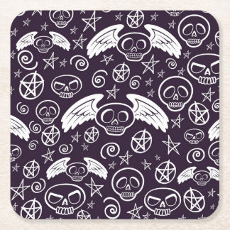 """Voodoo"" Pattern Square Paper Coaster"