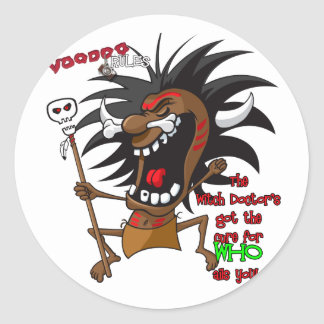 Voodoo RULES with Tagline Classic Round Sticker