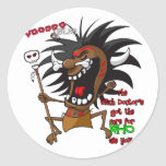 Voodoo RULES with Tagline Round Stickers