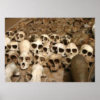 Voodoo Skulls of dead Animals in West Africa Poster
