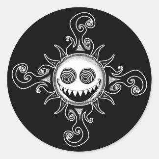 Voodoo Sun Round Stickers