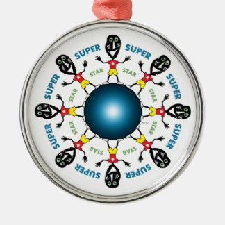 VooDoo Super Star Metal Ornament
