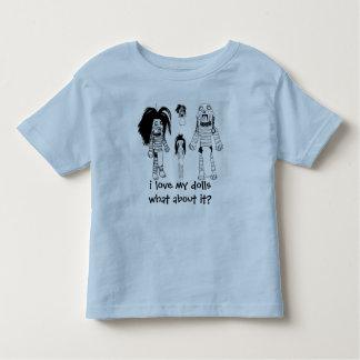 Voodoo Toddler T-Shirt, Blue i love my dolls T Shirt