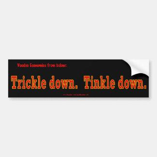 voodoo-trickleRedOnBlack Bumper Sticker