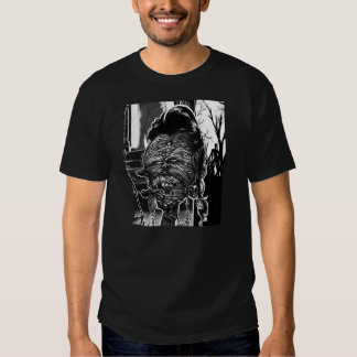 VOODOO ZOMBIE HEAD- FROM UNDEAD EVIL COMIC T SHIRT