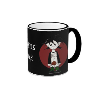 voodoo zombie, zombie boy, ZOMBIES  ROCK Ringer Coffee Mug