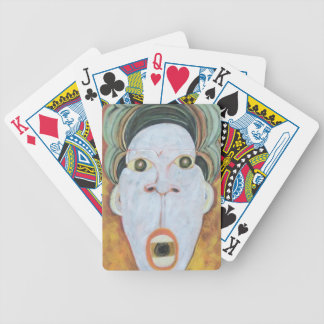 Voodoododa: Primitive Face Bicycle Playing Cards