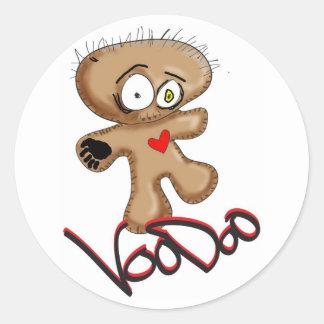 voodoodoll classic round sticker