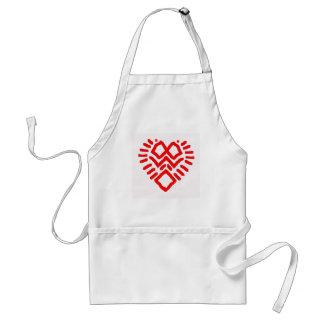 voodoooheartmask adult apron