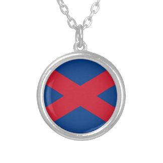 Voortrekker Flag Round Pendant Necklace