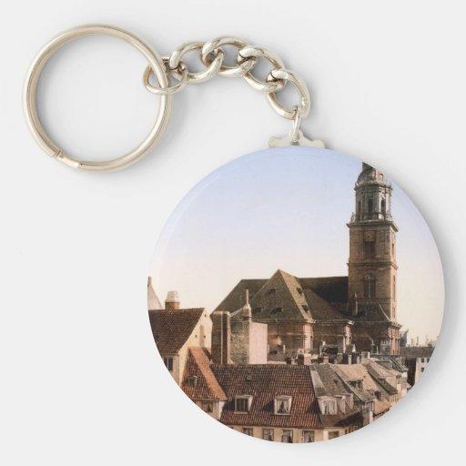 Vor Frelsers Kirke Church of Our Savior Copenhagen Basic Round Button Keychain