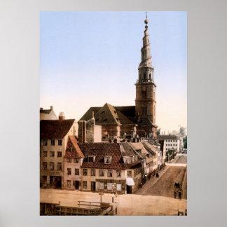 Vor Frelsers Kirke Church of Our Savior Copenhagen Poster