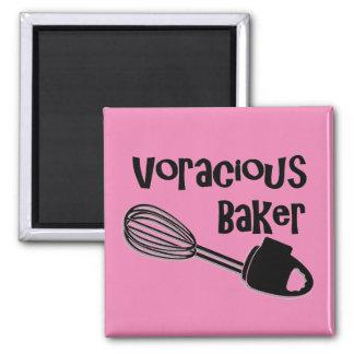 Voracious Baker - Funny Refrigerator Magnets