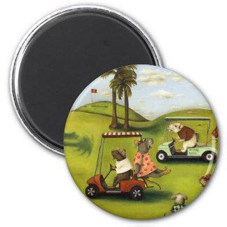 Vorágine 2 en el campo de golf imán redondo 5 cm