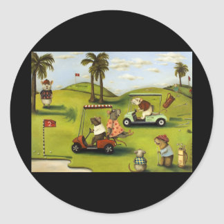 Vorágine 2 en el campo de golf etiqueta redonda