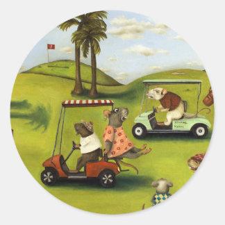 Vorágine 2 en el campo de golf pegatina redonda