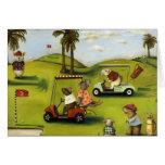 Vorágine 2 en el campo de golf tarjeta de felicitación