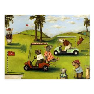 Vorágine 2 en el campo de golf tarjetas postales