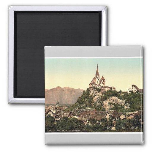 Vorarlberg Rankweil and Hohenkasten, Tyrol, Austro 2 Inch Square Magnet