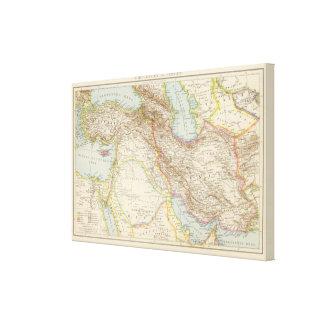 Vorderasien, Persien - Asia Minor and Persia Map Canvas Print