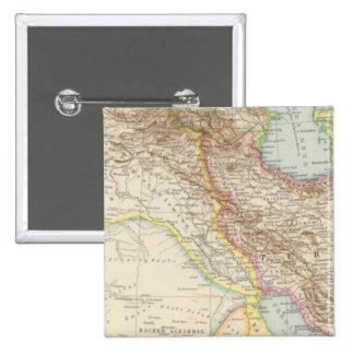 Vorderasien, Persien - Asia Minor and Persia Map Pinback Button