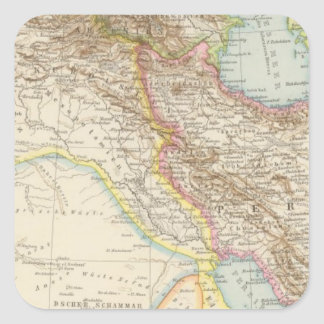 Vorderasien, Persien - Asia Minor and Persia Map Square Sticker