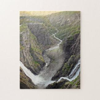 Voringsfossen waterfall in Norway jigsaw puzzle