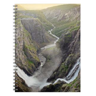 Voringsfossen waterfall in Norway notebook