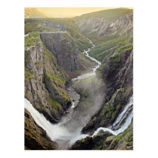Voringsfossen waterfall in Norway postcard