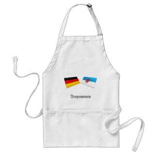 Vorpommern, Germany Flag Tiles Adult Apron